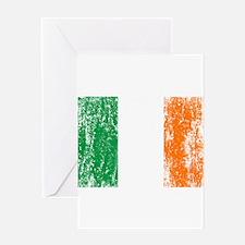 Irish Flag Pattys Drinking Greeting Card