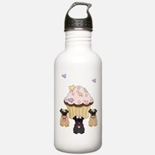 Pug Dog Cupcakes Water Bottle