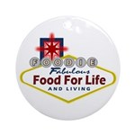 Vegas Foodie Ornament (Round)