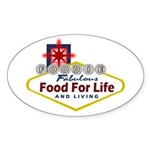 Vegas Foodie Sticker (Oval)