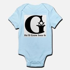 "Masonic ""He'll Grow Into It"" Infant Creeper"