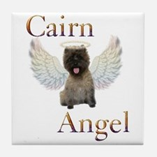 Cairn Terrier Angel Tile Coaster