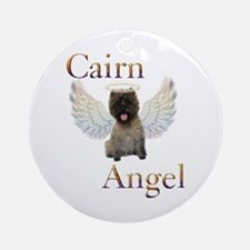 Cairn Terrier Angel Ornament (Round)