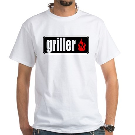 Flame Griller White T-Shirt