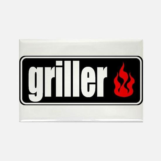 Flame Griller Rectangle Magnet