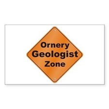Ornery Geologist Decal