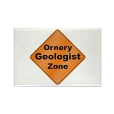 Ornery Geologist Rectangle Magnet