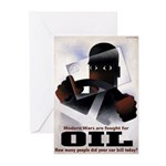 Oil = Death Greeting Cards (10 Pk)