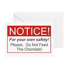 Notice / Chemists Greeting Card