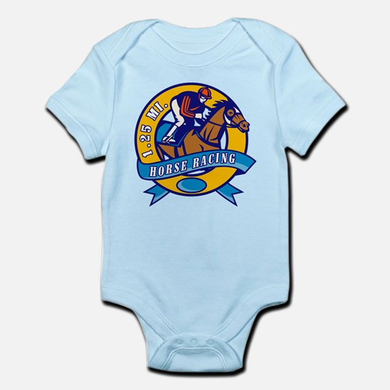 horse racing Infant Bodysuit