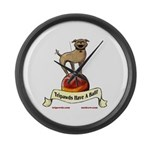 Tripawds Have A Ball Large Wall Clock