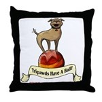 Tripawds Have A Ball Throw Pillow