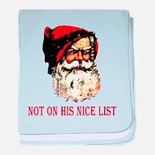 Scowling Santa baby blanket