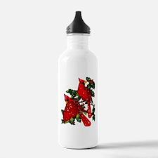 Snow Cardinals Water Bottle