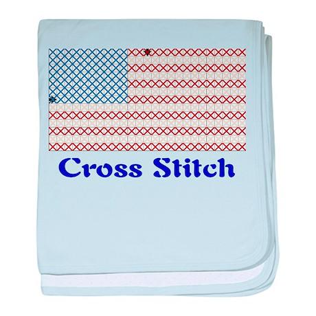 USA - Cross Stitch baby blanket