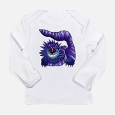Mad Cheshire Cat Outline Long Sleeve Infant T-Shir
