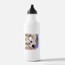 Music is My Heartbeat Sports Water Bottle