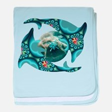 Dolphins at Dione baby blanket