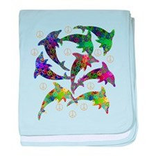 Dolphin Peace Group baby blanket