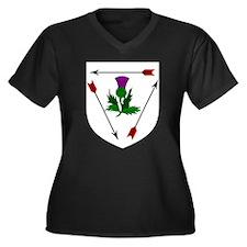 Magda's Women's Plus Size V-Neck Dark T-Shirt