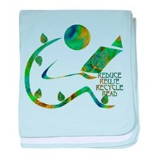 Four Rs Green Reader baby blanket