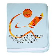 Reader - Golden Quote baby blanket