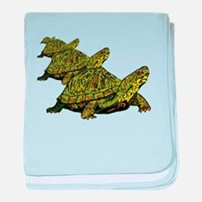 Turtles Marching baby blanket