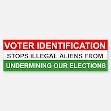VOTER IDENTIFICATION Bumper Bumper Bumper Sticker