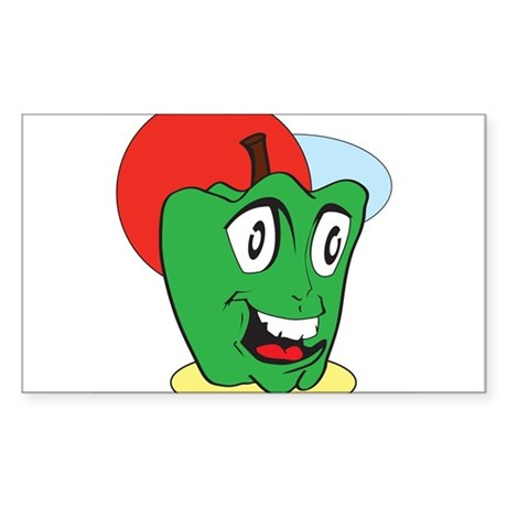The Peppy Pepper Sticker (Rectangle)