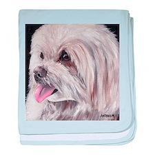 Maltese Terrier Dog baby blanket