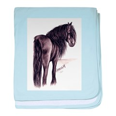 Friesian Mare baby blanket