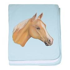 Palomino Horse baby blanket