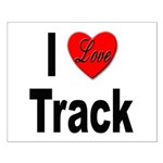 I Love Track Small Poster