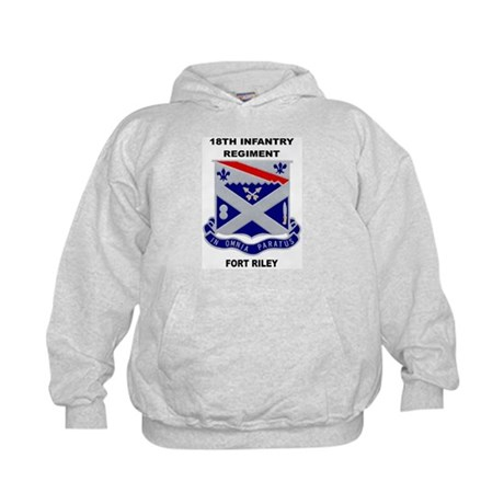 18TH INFANTRY REGIMENT-FORT RILEY Kids Hoodie