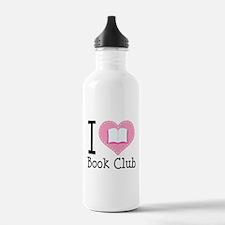 I Heart Book Club Water Bottle