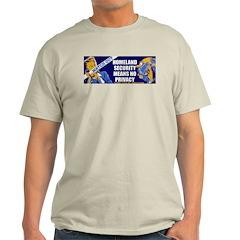 No Privacy Ash Grey T-Shirt