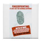 Fingerprint Everyone Tile Coaster
