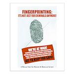 Everybody's Fingerprints Small Poster
