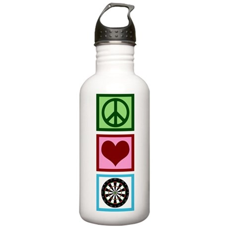Peace Love Darts Stainless Water Bottle 1.0L