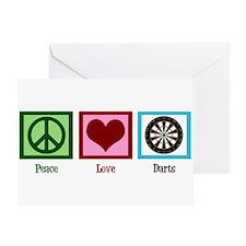 Peace Love Darts Greeting Card