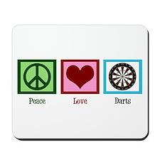 Peace Love Darts Mousepad