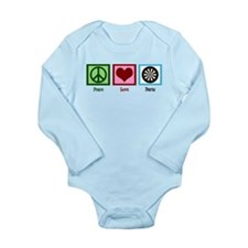 Peace Love Darts Long Sleeve Infant Bodysuit