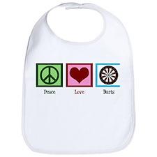 Peace Love Darts Bib