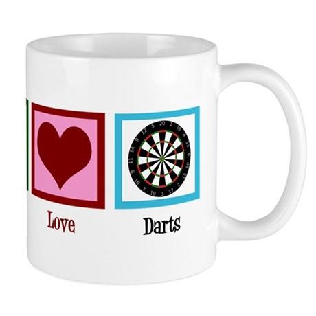 Peace Love Darts Mug