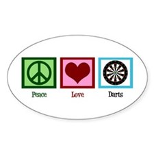 Peace Love Darts Decal