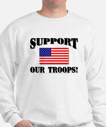 Support Our Troops Flag Sweatshirt