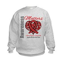 Heart Disease Mosaic Sweatshirt