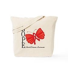 Heart Disease HopeButterfly Tote Bag
