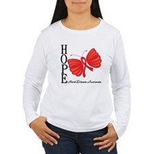 Heart Disease HopeButterfly T-Shirt