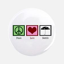"Peace Love Seattle 3.5"" Button"